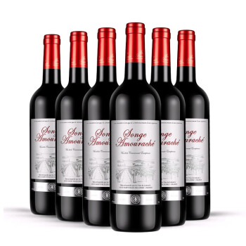 VDCE-SONGE AMOURACHE 爱思堡田园红葡萄酒 36年老藤干红葡萄酒礼盒 6支整箱*750ml