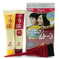 Bigen 美源 遮盖白发染发剂可瑞慕染发膏纯棕色焗油膏植物染发剂日本原装进口 7G自然棕黑色
