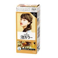 日本进口 花王(KAO)Prettia新包装泡沫染发膏 法国米棕色(1液34ml 2液66ml 护发素8g )植物泡泡不伤发 *3件