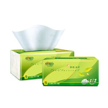 心相印 纸巾抽纸整箱家茶语系列 (小规格)无香 (3层*120抽*20包、3层)