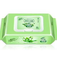 Breeze 清风 去菌温和洁肤清洁湿纸巾带盖抽取式80片/包  3包