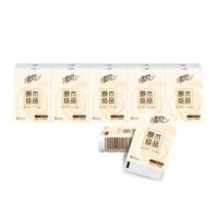 Breeze 清风 B66ACM-10条 手帕纸原木纯品每条8张10包共 (10条100包、3层)
