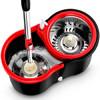 SHANGJIE 尚洁 旋转拖把桶 9f2 (炫动速8+金属盘+加强杆+不锈钢栏+2拖把头、1.8kg)