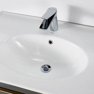JOMOO 九牧 轻奢系列 A2255 简欧浴室柜组合 灰色经典款 80cm