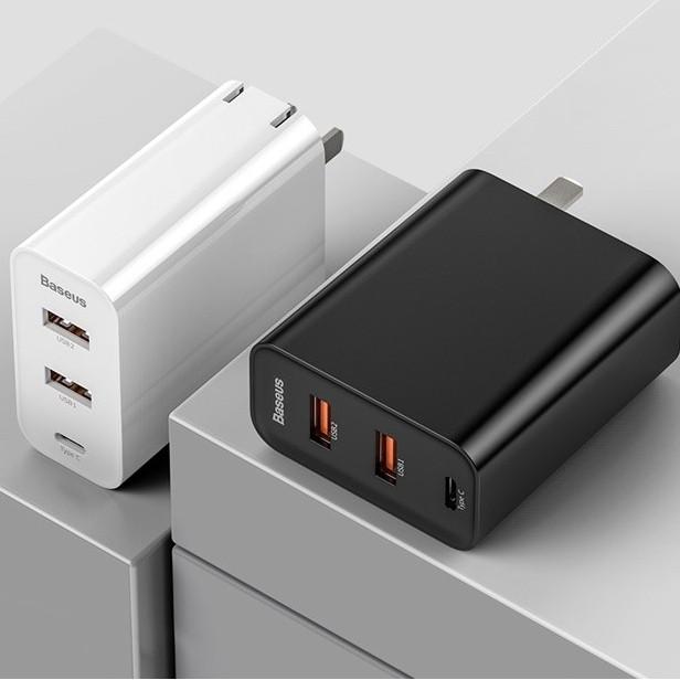 BASEUS 倍思 飞速系列 BS-CH910 60W Type-C+USB 三口充电器 (QC3.0、PD)