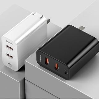 BASEUS 倍思 飞速 BS-CH910 Type-C+USB三口 充电器 60W  +凑单品