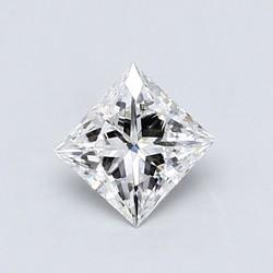 Blue Nile 0.58克拉 公主方形钻石(切工EX,成色D,净度VS1)