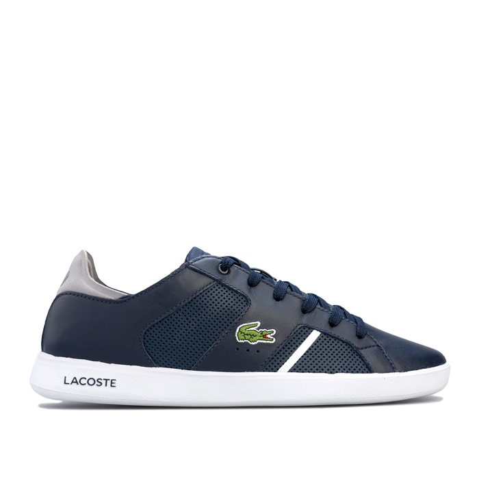 LACOSTE 拉科斯特 Mens Sideline 119 3 Cma Trainers 男士休闲鞋 (蓝色、UK7.5)