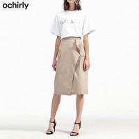 ochirly 欧时力 1GC2073750 女士半身裙
