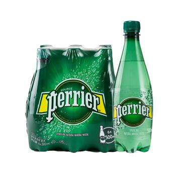 perrier 巴黎水 气泡矿泉水 500ml*6瓶