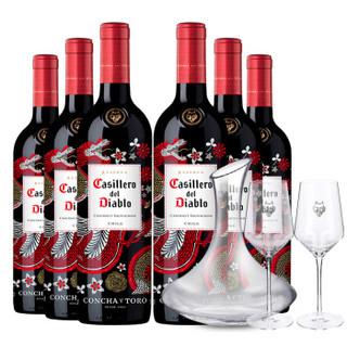 Casillero del Diablo 红魔鬼 智利原瓶进口红酒 干红葡萄酒 干露红魔鬼尊龙系列 750ml 赤霞珠*6瓶整箱装