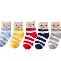YOKSHO 优可秀 儿童中筒棉袜  5双装 1-5岁
