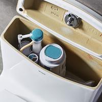 ANNWA安华卫浴 马桶连体式静音坐便器节水型超漩式虹吸排污马桶卫生间坐厕抽水马桶 L400MM