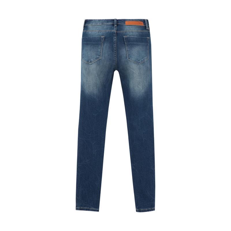 Meters bonwe 美特斯邦威 604053 女式小脚牛仔长裤 (中蓝)