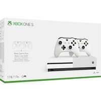 中亚prime会员:Microsoft 微软 Xbox One S 1TB 游戏主机 双手柄套装