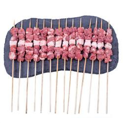 草原宏宝 羔羊肉串 500g/袋(约20串) *4件