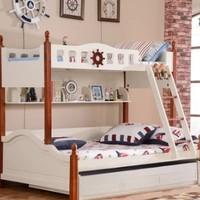 A家家具 实木框架子母床 A款 1.2*1.9米