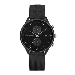 PAULHEWITT新款德国品牌计时码手表男石英表黑色钢带皮带款情侣DW