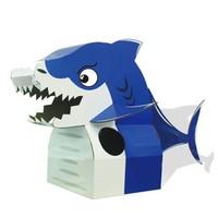 儿童纸箱DIY鲨鱼服 萌懵鲨鱼