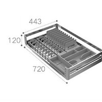HIGOLD 悍高 拉格斐系列 SUS304橱柜单层碗篮 800柜体