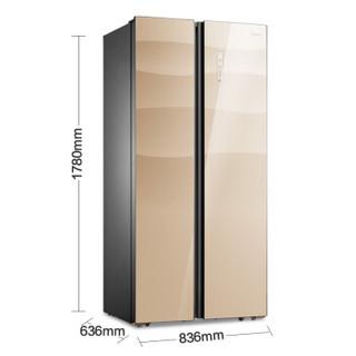 Midea 美的 BCD-451WKGZM(E) 451升 对开门冰箱 格调金