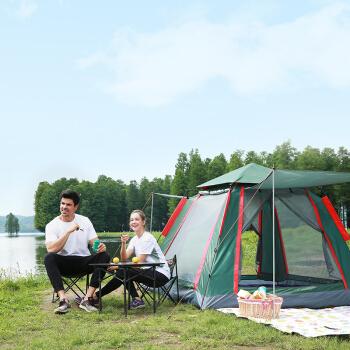 BeiJiLang 北极狼 帐篷户外防雨野外露营帐篷套装 家庭休闲套餐 军绿 087