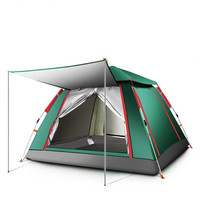 TAN XIAN ZHE 探险者 帐篷户外全自动一室一厅 3-4人多人防雨野外露营大帐篷 银胶墨绿送价值200元礼包 TXZ-0023