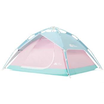 MOBI GARDEN 牧高笛 户外野营沙滩休闲防风3-4人家用大空间全自动速搭公园帐篷零动 马卡龙旗舰版-粉色  EXZQU61005/TZLD001