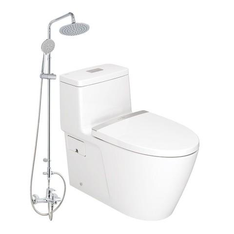 历史低价、装修党:American Standard 美标 CP1808+0711+S048 马桶+淋浴花洒套装