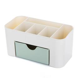 HAGGIS 桌面化妆品收纳盒带小抽屉 绿色