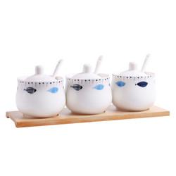 陶瓷调味罐家用调料罐3件套