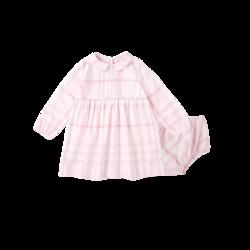 女婴童格纹连衣套裙(含裤子)0-3岁