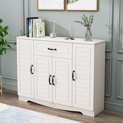 帕加西 鞋柜欧式家用鞋柜现代北欧鞋架收纳柜 暖白色 4门普通款 *2件