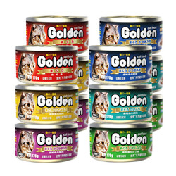 Golden 金赏 猫咪零食猫罐头170g 24罐装 *2件