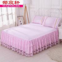 欧式床裙床罩单件蕾丝荷叶花边公主床单防滑保护套1.5m1.8米床夏2