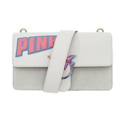 PINKO 品高 LOVE MAXI LOGO系列 女士印花LOGO装饰燕子包单肩