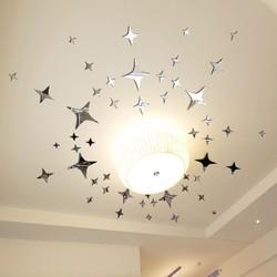 3d立体亚克力镜面墙贴客厅天花板儿童房卧室吊顶星星家居装饰贴画