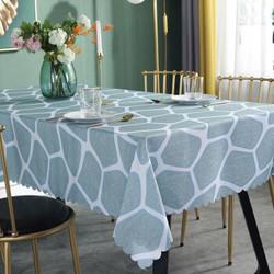 桌布防水餐桌布桌垫布艺茶几垫圆形少女心宿舍桌布定制定做北欧圆桌小清新 鹅卵石绿 130*180cm *3件