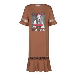CacheCache 捉迷藏 7610016833 女 印花蕾丝拼接T恤裙
