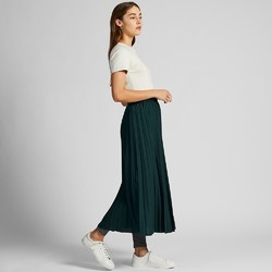 UNIQLO 优衣库 高腰打褶长裙 420358