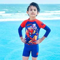 Disney 迪士尼 儿童泳衣 漫威复仇者联盟系列蜘蛛侠 男童分体泳衣红色 130         S19W2F0183A (红色、 130 、聚酯纤维、分体)