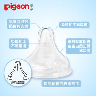 pigeon 贝亲 BA60 自然实感宽口径硅胶奶嘴 (单个装)