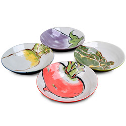 【第2件0元】美浓烧日式蔬菜陶瓷盘*2