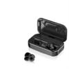 W&P 迷你超小隐形运动跑步双耳入耳式 (黑色、通用、入耳式、IPX1)