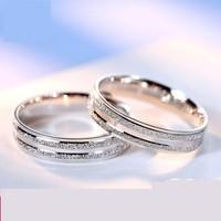 爱朵钻 Aidoz 铂金戒指 情侣款对戒 男女款结婚戒子指环25号 9.19克