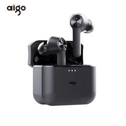 爱国者(aigo)T09 无线蓝牙耳机 蓝牙5.0 双耳音乐迷你运动耳机  黑色