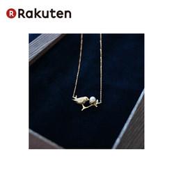 Pearlyuumi  日本  日本Akoya海水珠4-5mm 项链小鸟设计 钻石 K18黄金 全长38cm