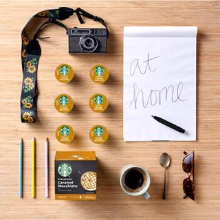 STARBUCKS 星巴克 咖啡胶囊 焦糖风味玛奇朵花式咖啡 (127.8g、拿铁咖啡、盒装)