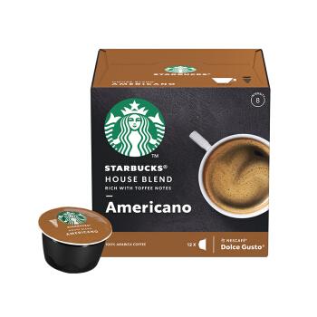 STARBUCKS 星巴克 咖啡胶囊 特选综合美式黑咖啡(大杯) (102g、美式咖啡、盒装)