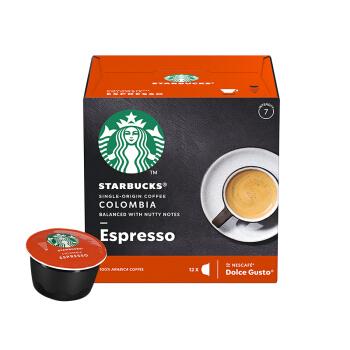 STARBUCKS 星巴克 咖啡胶囊 哥伦比亚意式浓缩黑咖啡 (66g、意式咖啡、盒装)